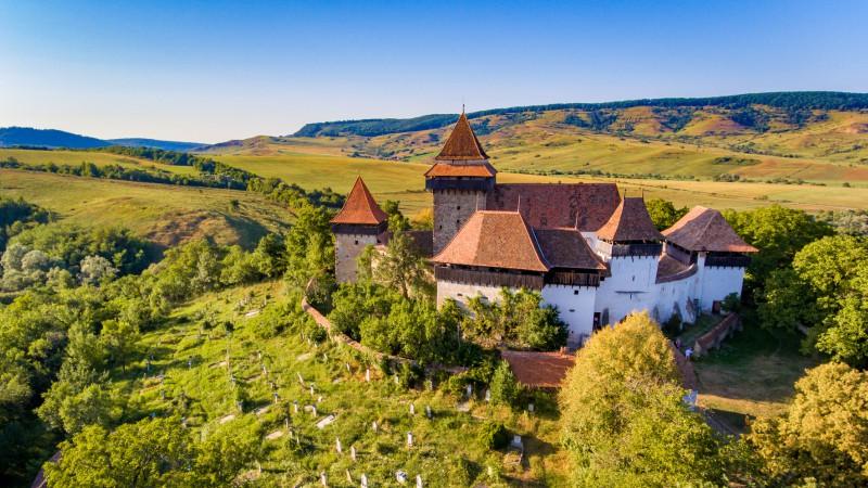 Fortified church in Viscri, Transylvania, Romania