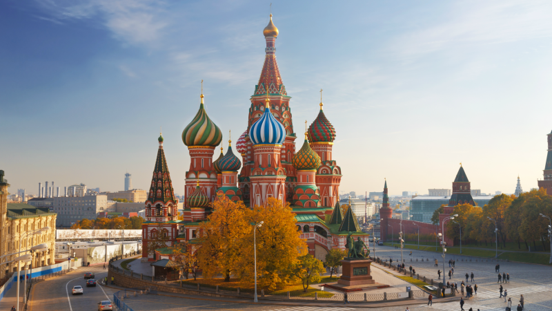 St Basil's Cathedral in the Red Square, Russia