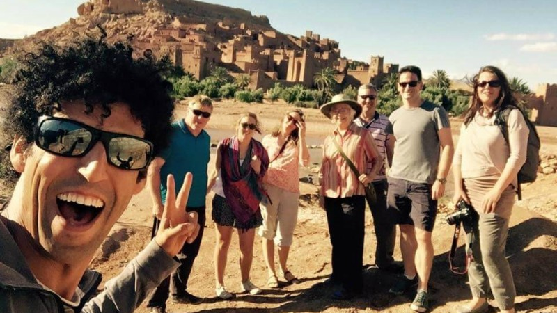 Abdou with a group in Morocco