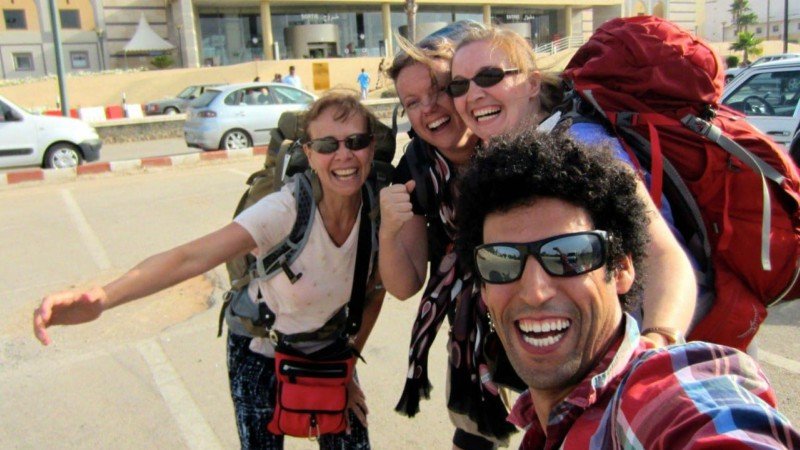 Abdou with some Intrepid travellers