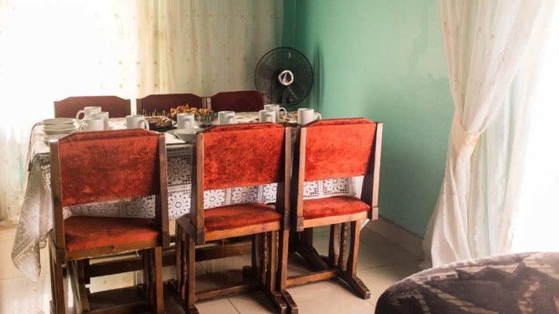 A dinner table