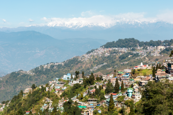 Darjeeling town view, India