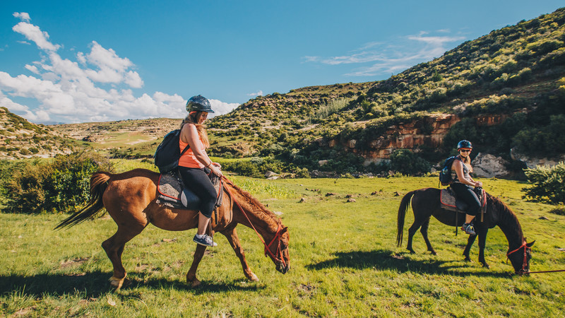 Horseriding in Lesotho