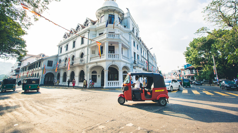Kandy street and old building