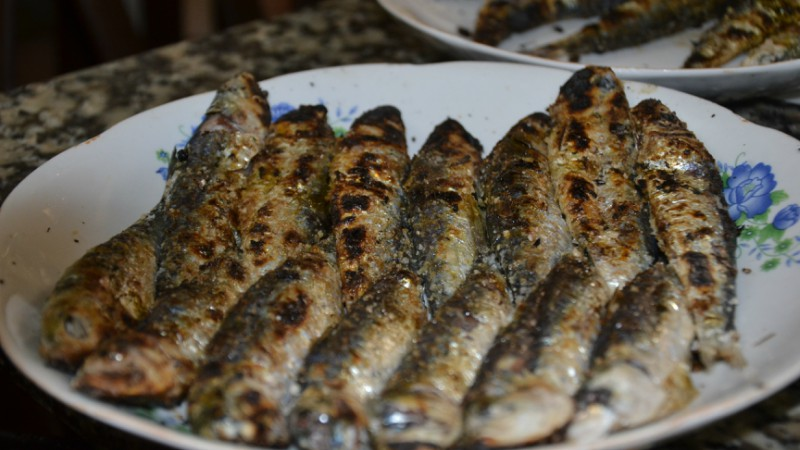 Grilled sardines in Essaouira