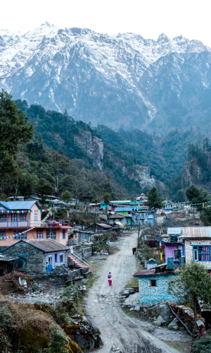 The village of Danaque on the Annapurna Circuit