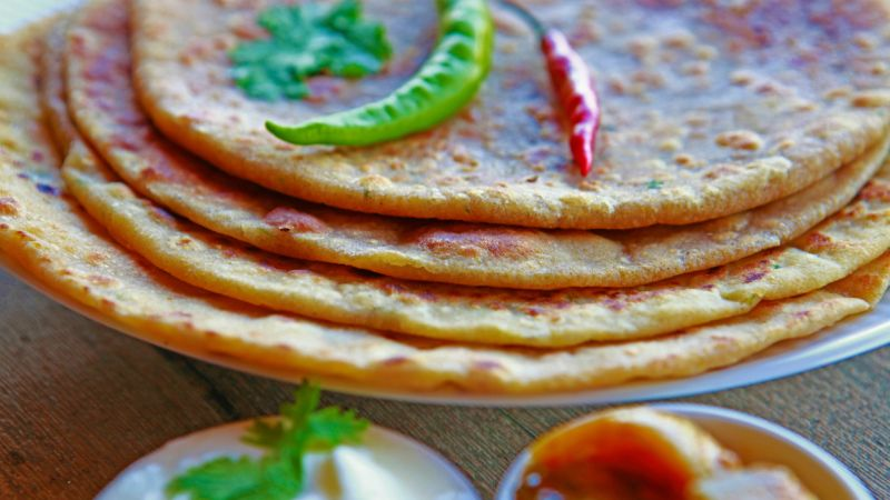 A stack of paratha