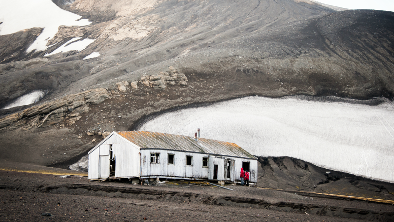 Whaling station on Deception Island, Antarctica