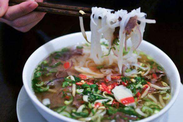 Pho, a traditional Vietnamese noodle soup