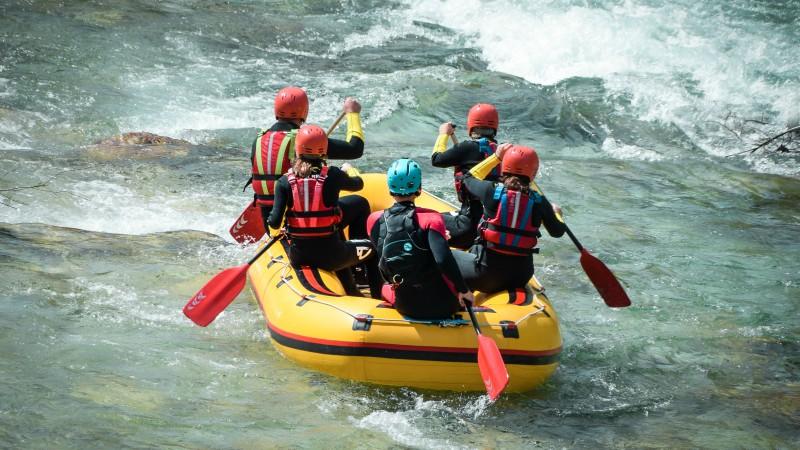 River rafting on the Sava Dolinka in Slovenia