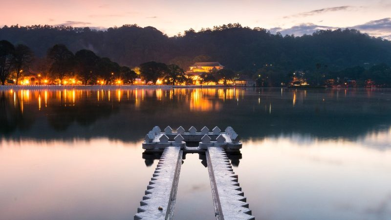 Jetty into the water at Kandy Lake