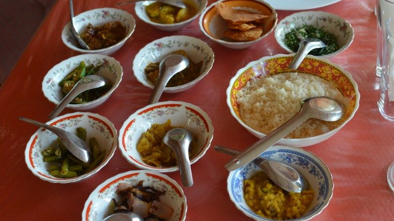Selection of Sri Lankan curries