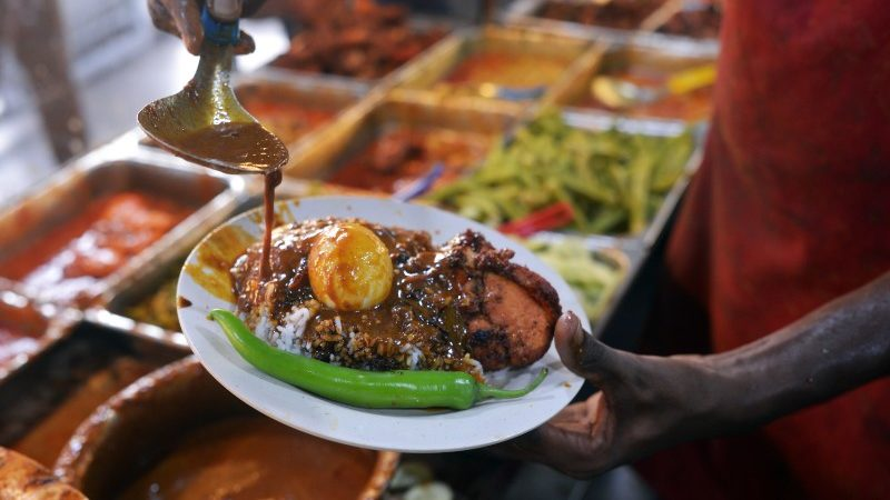 A plate of Nasi Kandar in Penang
