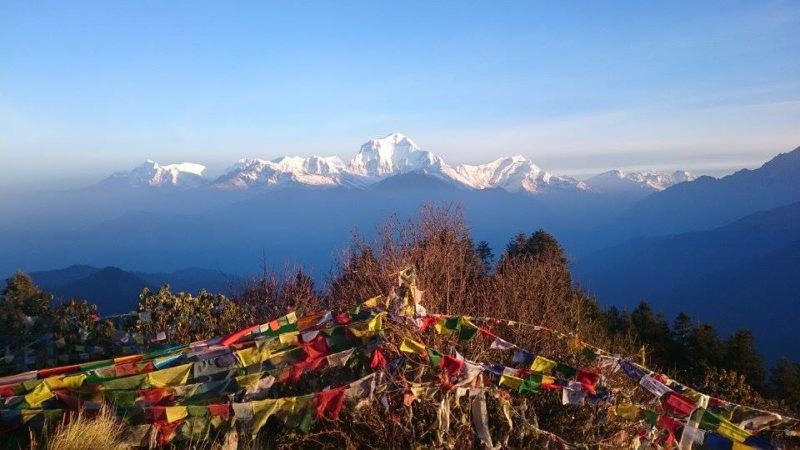 Annapurna circuit tour prayer flags