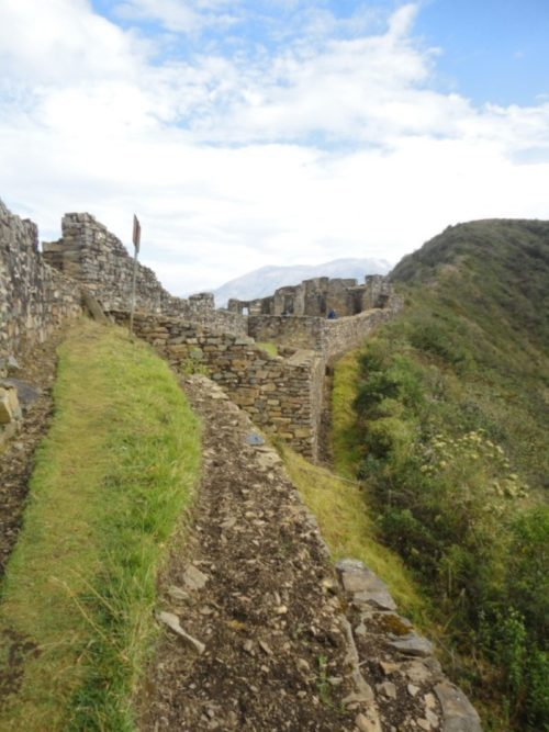 Ancient Inca ruins on the Choquequirao trail