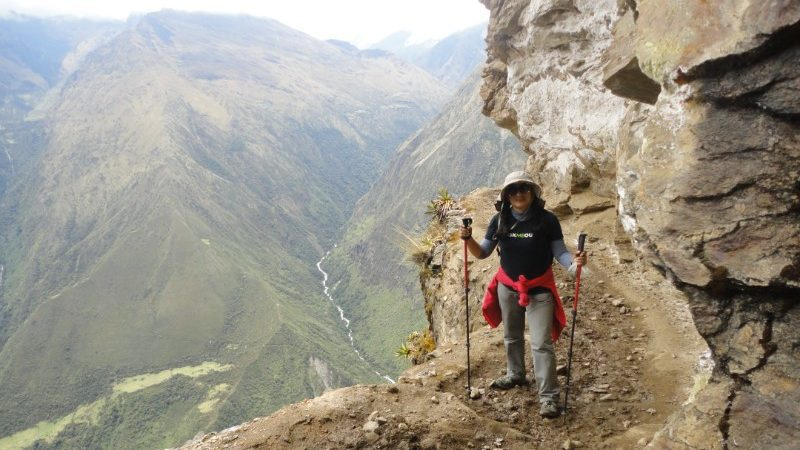 Trekker on the Choquequirao Trek, Peru