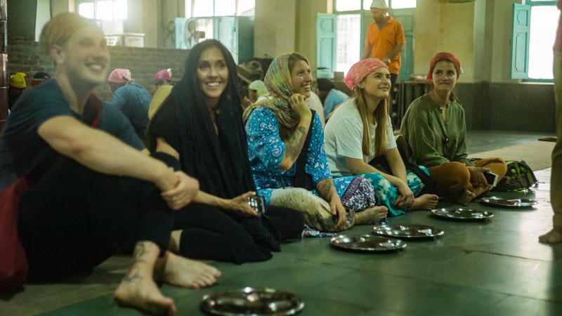 India vegan tour temple Delhi