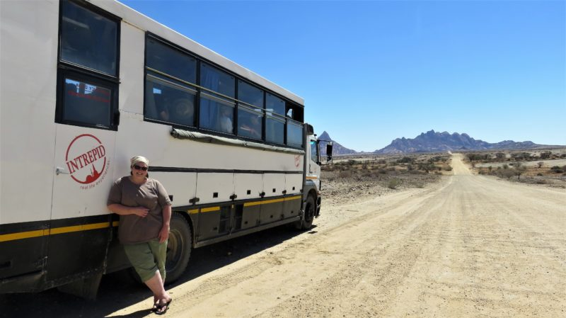 solo traveller Namibia truck