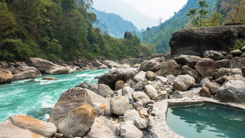 Hot springs in Nepal