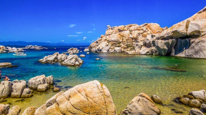 Rocky beach in Lavezzi, Italy