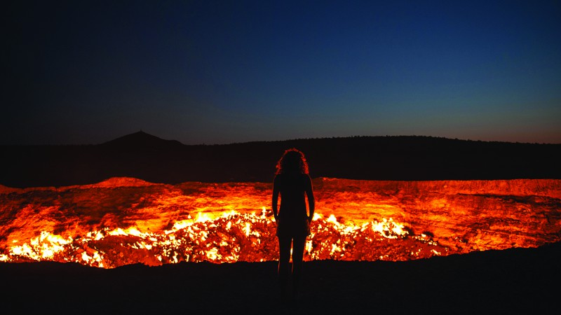 Door to Hell in Darvaza, Turkmenistan