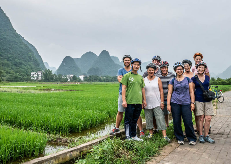 China tour Yangshuo cycling