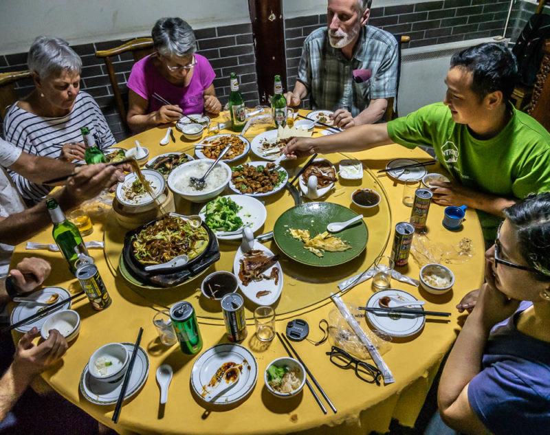 China tour solo travel dinner Beijing