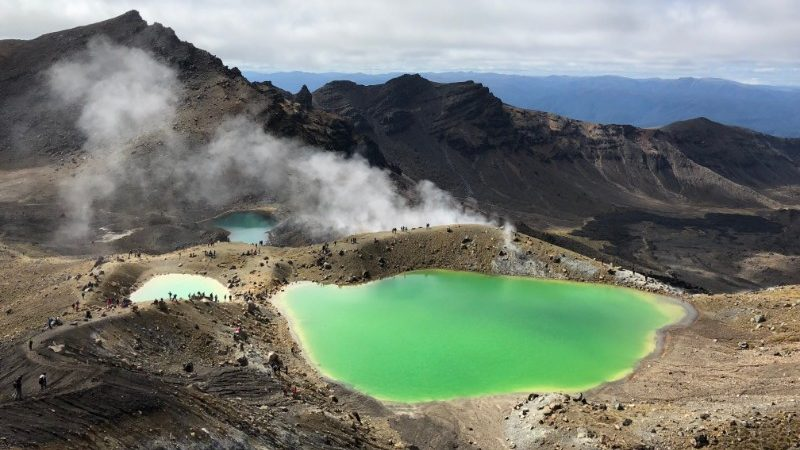 Green lake on Tongariro Alpine Crossing