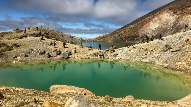 Tongariro Crossing green crater lake