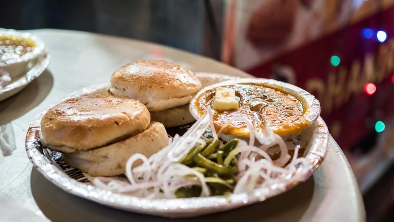 Delicious Indian food in Delhi, India