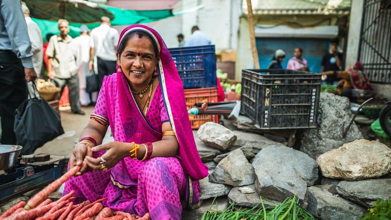 Street vendor in Udaipur, India