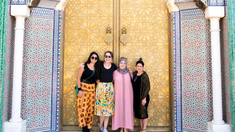 Intrepid Travel-Morocco-Fes-pose-local-doorway--039