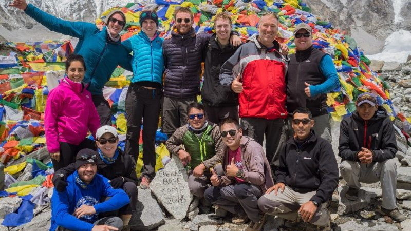 Group at Everest base Camp