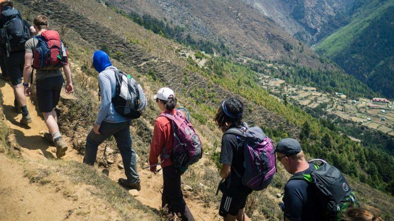 Trekkers at Everest Base Camp