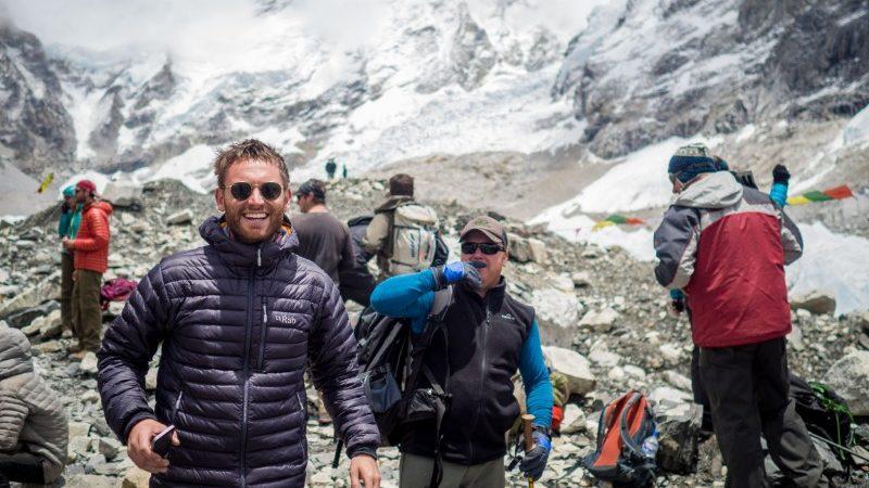 traveller at Everest Base Camp
