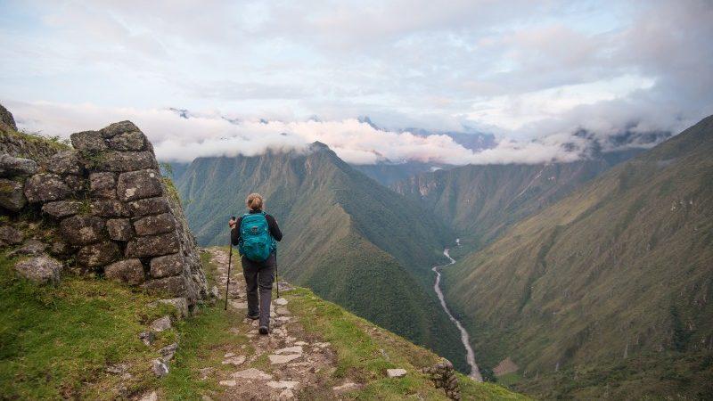 hiker on Inca Trail