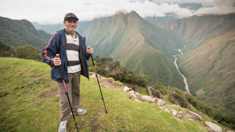 male hiker inca trail