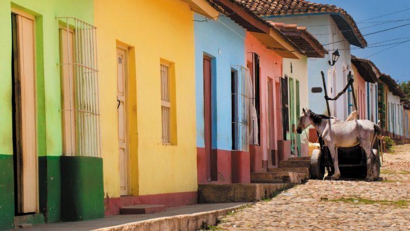 Colourful Cuban casas in Trinidad.