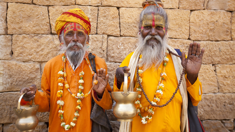 Two Jain priests in Rajasthan