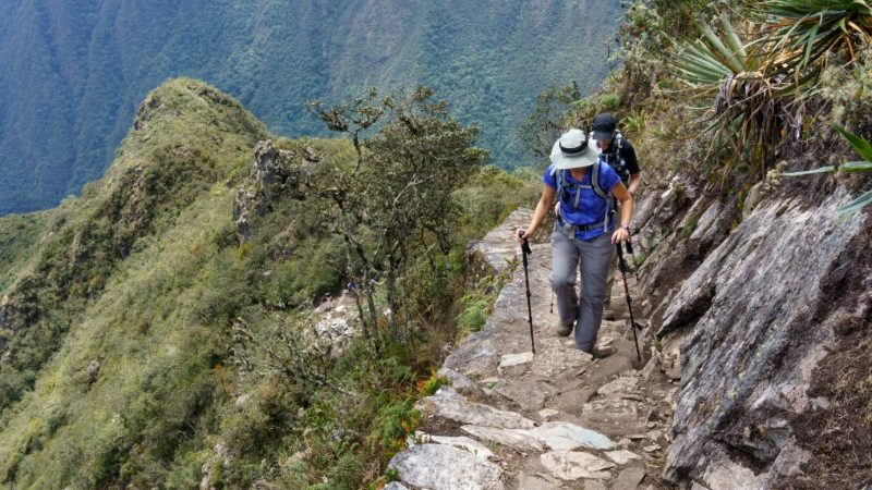 person hiking the Inca Trail