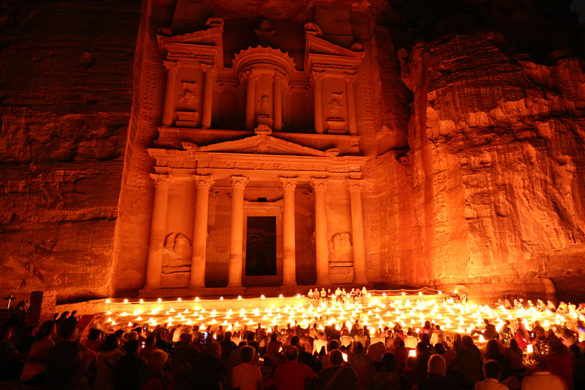 Petra at night Jordan