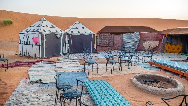 Desert camp in the Moroccan Sahara