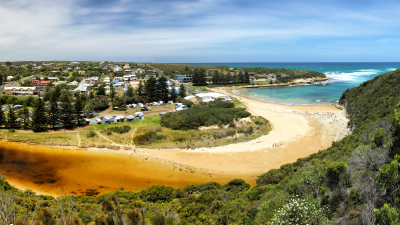 Port Campbell creek, bay and town