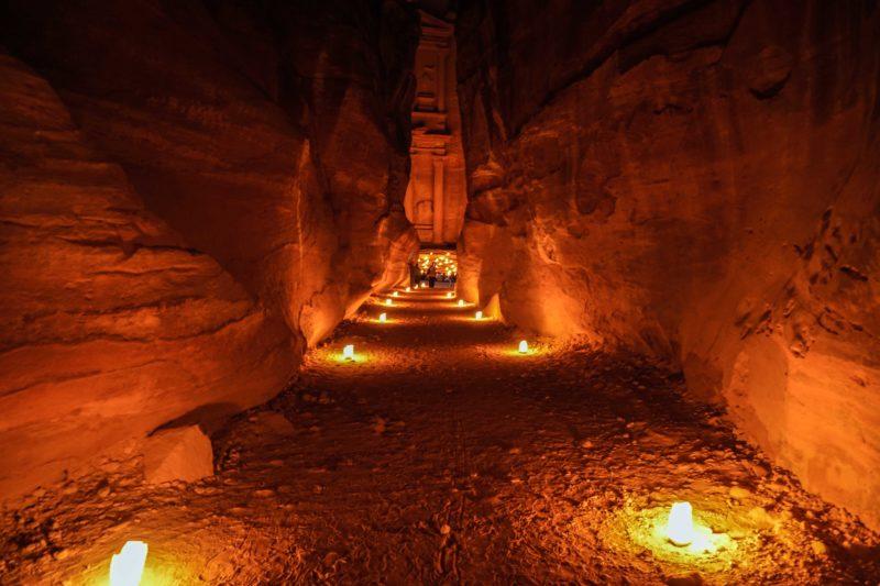 Petra at night Jordan