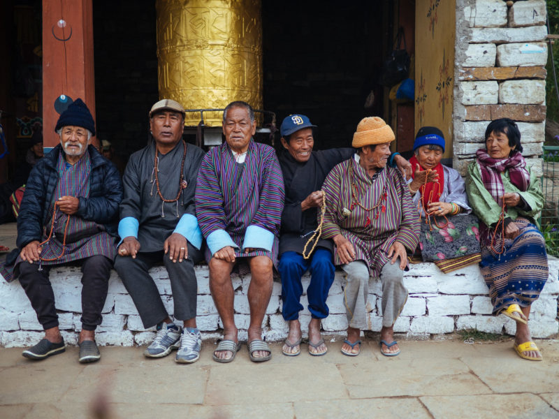 Bhutan tour locals