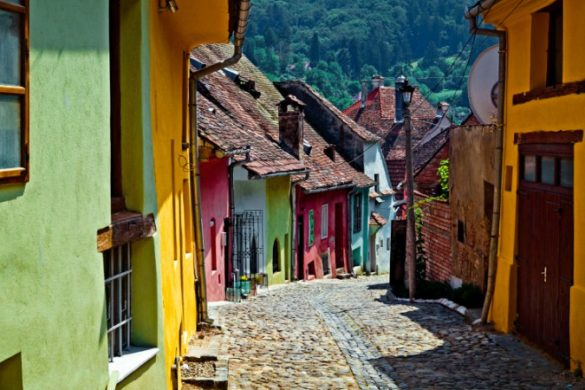 Brightly coloured houses of Sighisoara