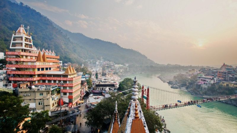 Rishikesh skyline, India