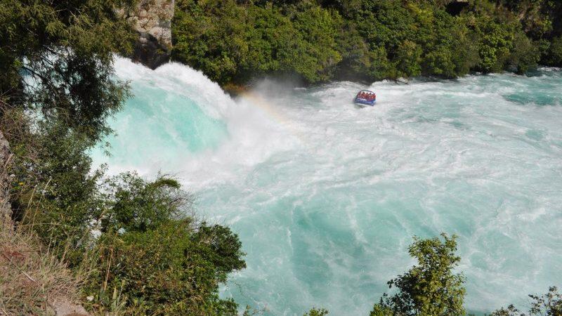 Jet boating Huka Falls