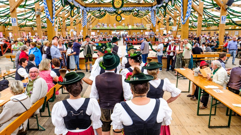 Celebrating Oktoberfest in Munich, Germany