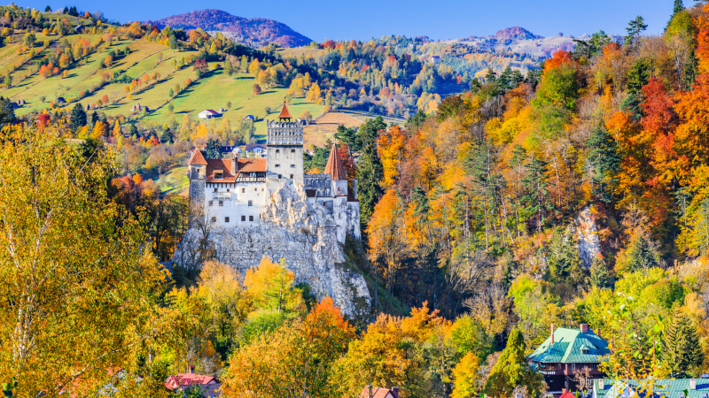 Bran Castle in autumn, Romania
